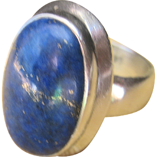Vintage Sterling High Quality Lapis Ring