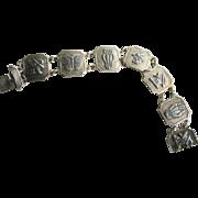 Vintage Art Deco 900 Silver Animal Motif Bracelet