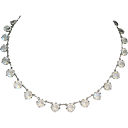 Art Deco 67 carats of Rock Crystal Sterling Necklace
