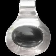 Vintage Sterling Black Onyx Pendant Slide