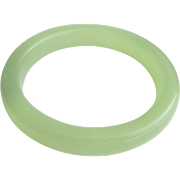 Vintage Little Green Translucent Jade Bangle Bracelet