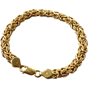 Estate 18k Yellow Gold Italian Byzantine Style Chain Bracelet ~10 grams