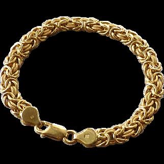 Estate 18k Yellow Gold Italian Byzantine Style Chain Bracelet ~10 grams