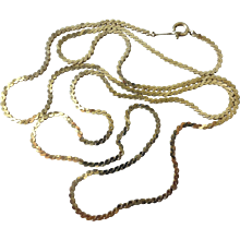 """Vintage Estate 14k Yellow Gold 24"""" Chain Necklace 6.5 grams"""