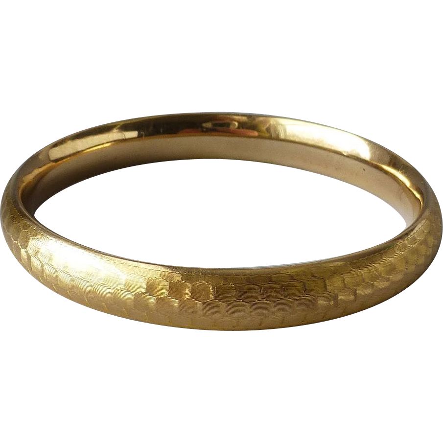 Vintage 14k yellow gold oval petite size bangle bracelet for Best place to sell gold jewelry in chicago