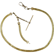 Antique 14k Yellow Gold Mesh Watch Chain