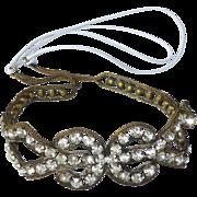 Vintage Art Deco Flapper Rhinestone Headband Bandeau