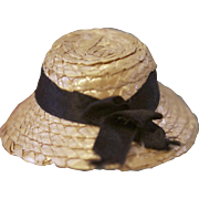 Miniature Woven Straw Hat
