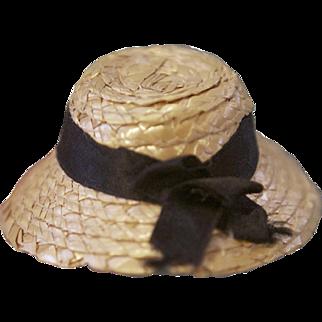 Miniature Woven Straw Hat