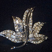 Sale: Glittering, Sparkling  Maple Leaf Brooch