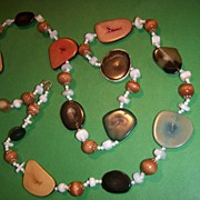 Colorful, Hand Crafted Hippie Necklace