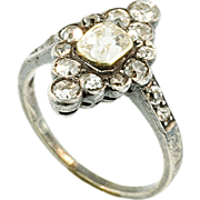 Antique Circa 1840 Diamond Silver and Gold Ring