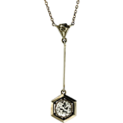 Art Deco .93 Diamond and 18KT White Gold Pendant