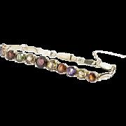 Silver Gilt Semi Precious Stone Bracelet