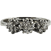 Antique 18kt White Gold Diamond Ring