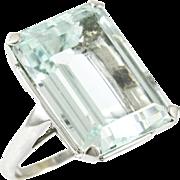 Vintage Custom Made Aquamarine Ring