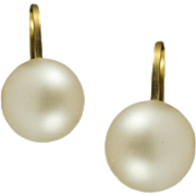 Vintage 9KT Screw Back Pearl Earrings