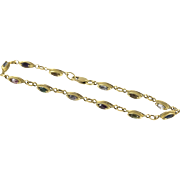 Charming Vintage Gemstone Bracelet Set in 14KT Yellow Gold