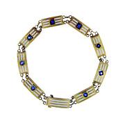 Fine Enameled Art Deco Gold Bracelet