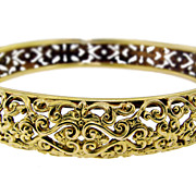 Sloan & Co. Pierced Gold Bangle