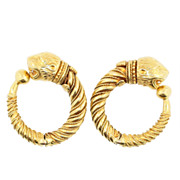 Ilias Lalaounis Gold Earrings