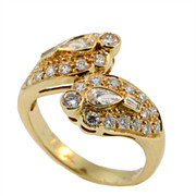 Vintage 18KT Yellow Gold Diamond Ring