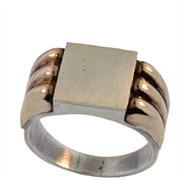 Retro Gold and Silver Men's Ring