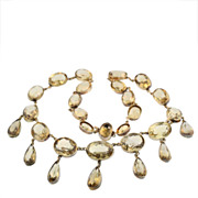 Victorian Silver Gilt and Citrine Drop Necklace