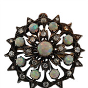 Antique Opal and Diamond Broach/Pendant