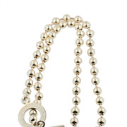 Gucci Sterling Silver Ball and Toggle Necklace