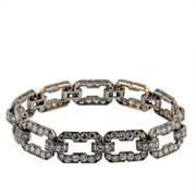Art Deco Platinum, Diamond Link Bracelet