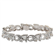 Vintage White Gold and Diamond Bracelet