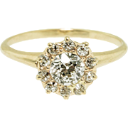 Vintage .64 Old European Cut Diamond Ring