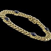 Vintage Sapphire and 18K Link Bracelet