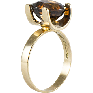 Vintage Avant Garde Natural Zircon Ring-Made in Finland