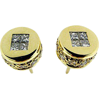 Vintage Yellow Gold Stud Earrings