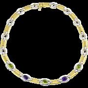 Vintage Colourful Italian Gemstone Necklace