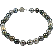 Lustrous 18 Inch Tahitian Baroque Pearl Necklace