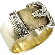 Antique Yellow Gold Buckle Ring