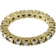 Vintage Yellow Gold Eternity Band Size 5.5