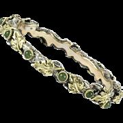 Mario Buccellati Gold Silver Chalcedony Bangle Bracelet