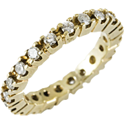 Vintage 14k Yellow Gold Eternity Band Size 5.5