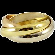 Vintage Cartier Tri Colour Rolling Ring