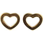 Tiffany Gold Heart Earrings