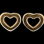 Tiffany Gold Heart Earrings