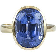 Vintage Stunning 8.50 CT Sapphire Ring
