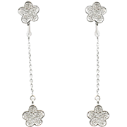 18K White Gold Diamond Detachable Earrings