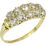 Antique Yellow Gold 10 Diamond Ring