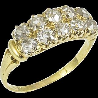 Antique Yellow Gold 10 Diamond Ring