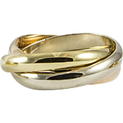 Classic Size 8 Tri Coloured Cartier Rolling Ring